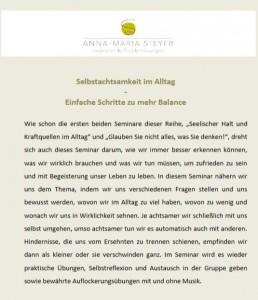 Achtsamkeit im Alltag - Selbsthilfekontaktstelle Weimar