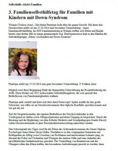 Familienselbsthilfetag in Deutschland Today