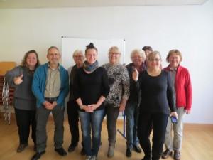 Teilnehmer eines Achtsamkeits-Seminars für Sprecher/-innen von Selbsthilfegruppen, Weimar
