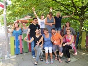 Teilnehmer des Seminars von Dipl.-Psych. Anna-Maria Steyer für Eltern von Kindern mit Down-Syndrom in Weimar 2016: Gesunde Lebensbalance