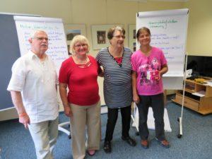 Selbsthilfegruppen-Sprecherinnen und Sprecher im Seminar von Dipl.-Psych. Anna-Maria Steyer: Wie Gruppentreffen gelingen, Jena 2017
